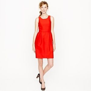 J. Crew Red Wool Sleeveless Dress
